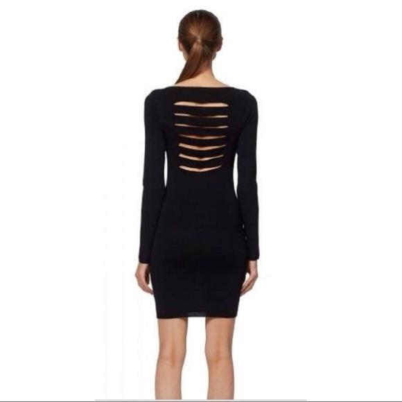 skull cashmere Dresses & Skirts - Skull Cashmere Karah Cutout Blk Bandage Knit Dress